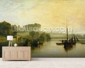 Petworth, Sussex, the Seat of the Earl of Egremont: Dewy Morning, 1810 (oil on canvas) mural wallpaper living room preview