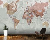 Executive Political World Map wallpaper mural kitchen preview