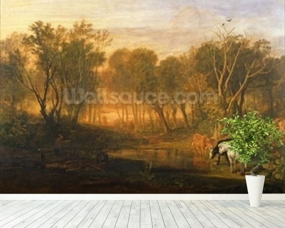The Forest of Bere, c.1808 wallpaper mural room setting