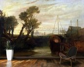 Newark Abbey, 1807 (oil on canvas) wall mural kitchen preview