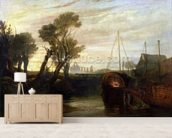 Newark Abbey, 1807 (oil on canvas) wall mural living room preview