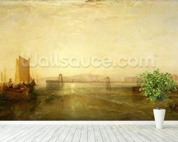 Brighton from the Sea, c.1829 wall mural room setting