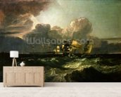 Ships Bearing up for Anchorage (The Egremont Sea Piece), 1802 wallpaper mural living room preview