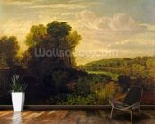The Thames at Weybridge, c.1807-10 mural wallpaper kitchen preview
