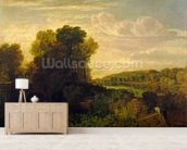 The Thames at Weybridge, c.1807-10 mural wallpaper living room preview