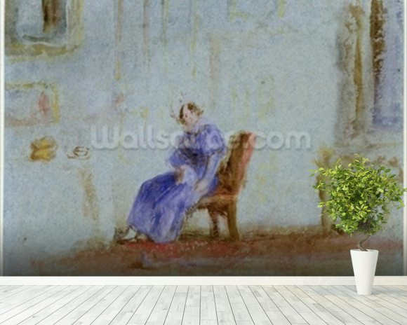 Spilt Milk, c.1828 (w/c and gouache) wall mural room setting