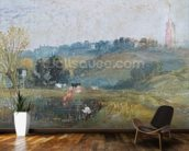 Landscape near Petworth, c.1828 (gouache) wallpaper mural kitchen preview