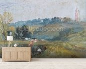 Landscape near Petworth, c.1828 (gouache) wallpaper mural living room preview