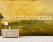 The Lake, Petworth: Sunset, Fighting Bucks, c.1829 mural wallpaper living room preview