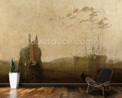 Hulks on the Tamar, c.1812 wallpaper mural kitchen preview