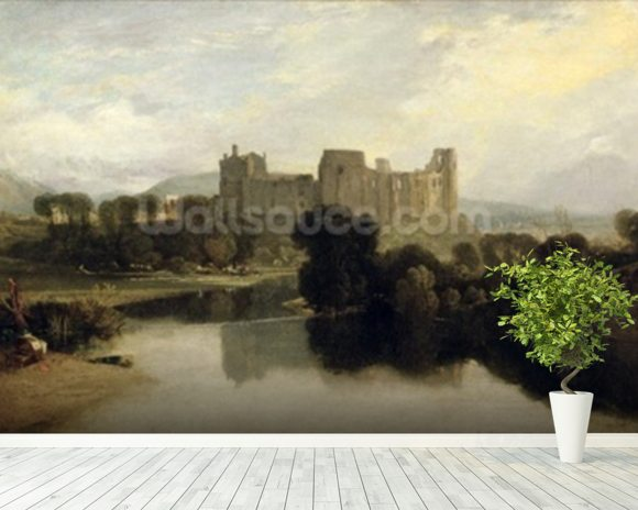 Turner joseph mallord william cockermouth castle wall for Castle mural wallpaper
