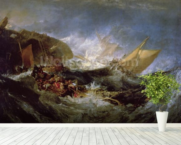 Wreck of a Transport Ship wall mural room setting