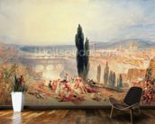 Florence from near San Miniato, 1828 wallpaper mural kitchen preview