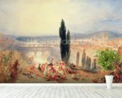 Florence from near San Miniato, 1828 wallpaper mural in-room view
