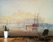 Scarborough, 1825 (watercolour) mural wallpaper kitchen preview