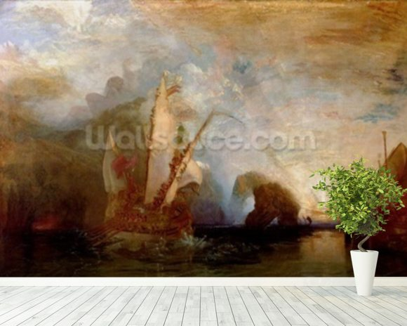 Ulysses Deriding Polyphemus, 1829 (oil on canvas) (for detail see 99614) mural wallpaper room setting