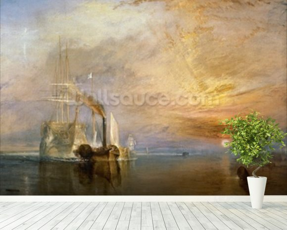 The Fighting Temeraire, 1839 (oil on canvas) wall mural room setting