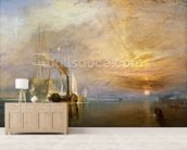 The Fighting Temeraire, 1839 (oil on canvas) wall mural living room preview