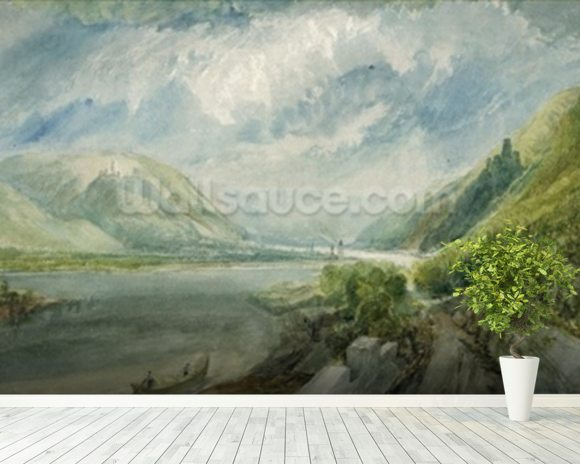 Junction of the Lahn, 1817 (gouache and w/c) wall mural room setting