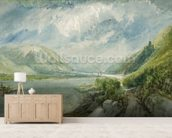 Junction of the Lahn, 1817 (gouache and w/c) wall mural living room preview