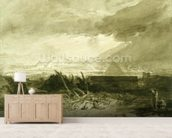 The Fifth Plague of Egypt, 1806-10 (pen and ink and wash) wall mural living room preview