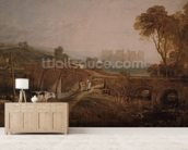 Conway Castle wallpaper mural living room preview