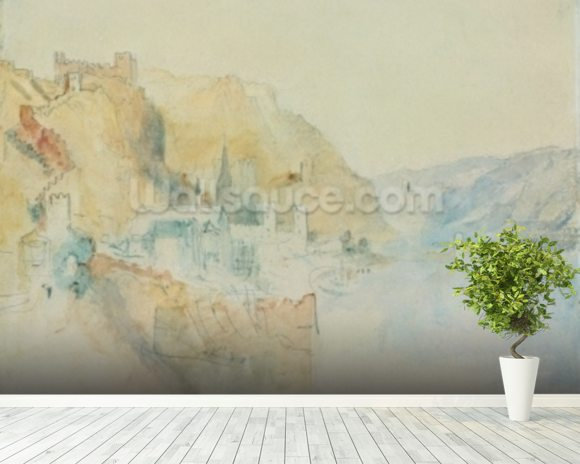 On The Rhine (w/c) wall mural room setting