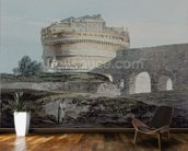 Castle of San Angelo, Rome (w/c on paper) mural wallpaper kitchen preview