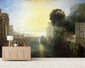 Dido building Carthage, or The Rise of the Carthaginian Empire, 1815 (oil on canvas) wall mural living room preview