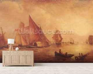 Estuary of the Thames and the Medway (oil on canvas) mural wallpaper