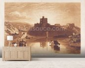 Norham Castle, engraved by Charles Turner (1773-1857) 1859-61 (engraving) wall mural living room preview