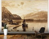 Inverary Pier, 1859-61 (engraving) wallpaper mural kitchen preview