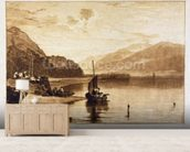 Inverary Pier, 1859-61 (engraving) wallpaper mural living room preview