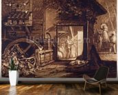 Pembury Mill, Kent, engraved by Charles Turner (1773-1857) 1853-74 (engraving) mural wallpaper kitchen preview