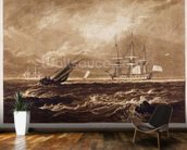 The Leader Sea Piece, engraved by Charles Turner (1773-1857) 1859-61 (engraving) wall mural kitchen preview