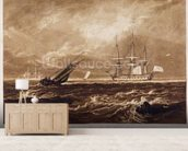 The Leader Sea Piece, engraved by Charles Turner (1773-1857) 1859-61 (engraving) wall mural living room preview