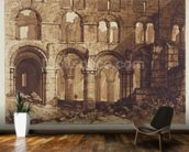 Holy Island Cathedral, engraved by Charles Turner (1773-1857) 1808 (engraving) wall mural kitchen preview