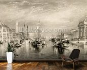 The Grand Canal, Venice, engraved by William Miller (1796-1882) 1838-52 (engraving) wall mural kitchen preview