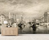 The Grand Canal, Venice, engraved by William Miller (1796-1882) 1838-52 (engraving) wall mural living room preview
