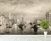 The Grand Canal, Venice, engraved by William Miller (1796-1882) 1838-52 (engraving) wall mural in-room view