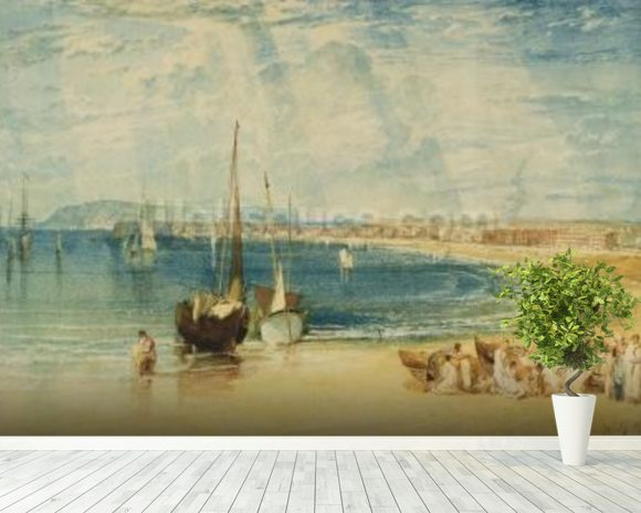 Weymouth, c.1811 (w/c on paper) wallpaper mural room setting