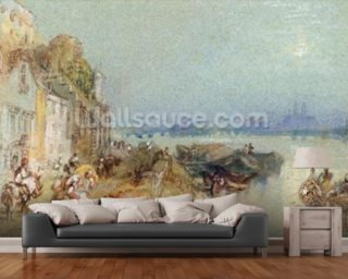 Andernach, 1817 (w/c with pen and black ink on wove paper) mural wallpaper