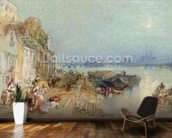 Andernach, 1817 (w/c with pen and black ink on wove paper) mural wallpaper kitchen preview