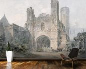 St. Augustines Gate, Canterbury, c.1797 (w/c over pencil on wove paper) wall mural kitchen preview