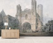 St. Augustines Gate, Canterbury, c.1797 (w/c over pencil on wove paper) wall mural living room preview