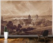 London from Greenwich, engraved by Charles Turner (1773-1857) 1811 (engraving) wallpaper mural kitchen preview