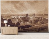 London from Greenwich, engraved by Charles Turner (1773-1857) 1811 (engraving) wallpaper mural living room preview