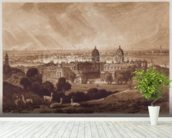 London from Greenwich, engraved by Charles Turner (1773-1857) 1811 (engraving) wallpaper mural in-room view