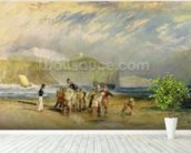 Folkestone Harbour and Coast to Devon, c.1830 (w/c and gouache on paper) mural wallpaper in-room view