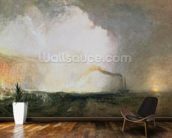 Staffa, Fingals Cave, 1832 (oil on canvas) wallpaper mural kitchen preview